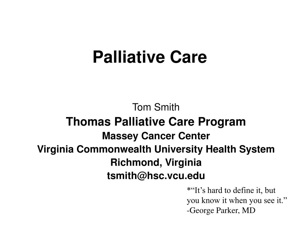 palliative care l.