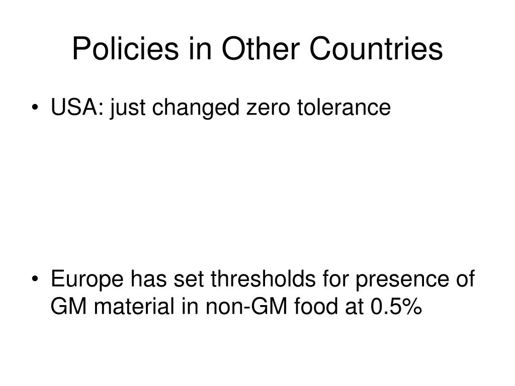 Policies in Other Countries