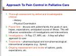 approach to pain control in palliative care