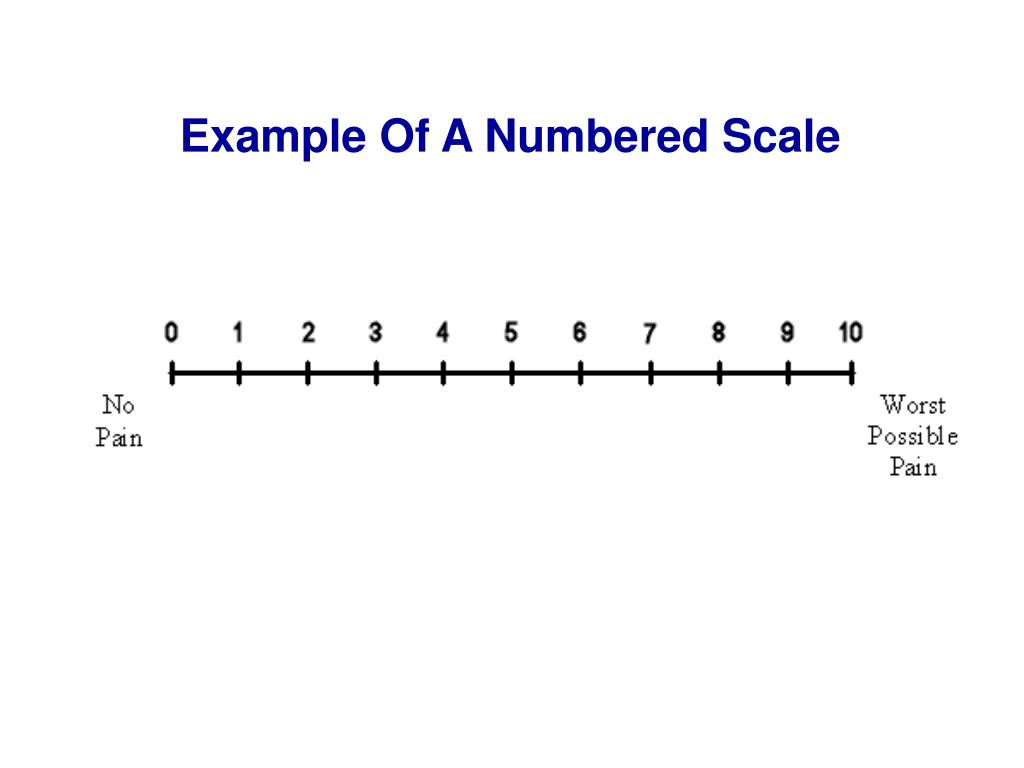 Example Of A Numbered Scale