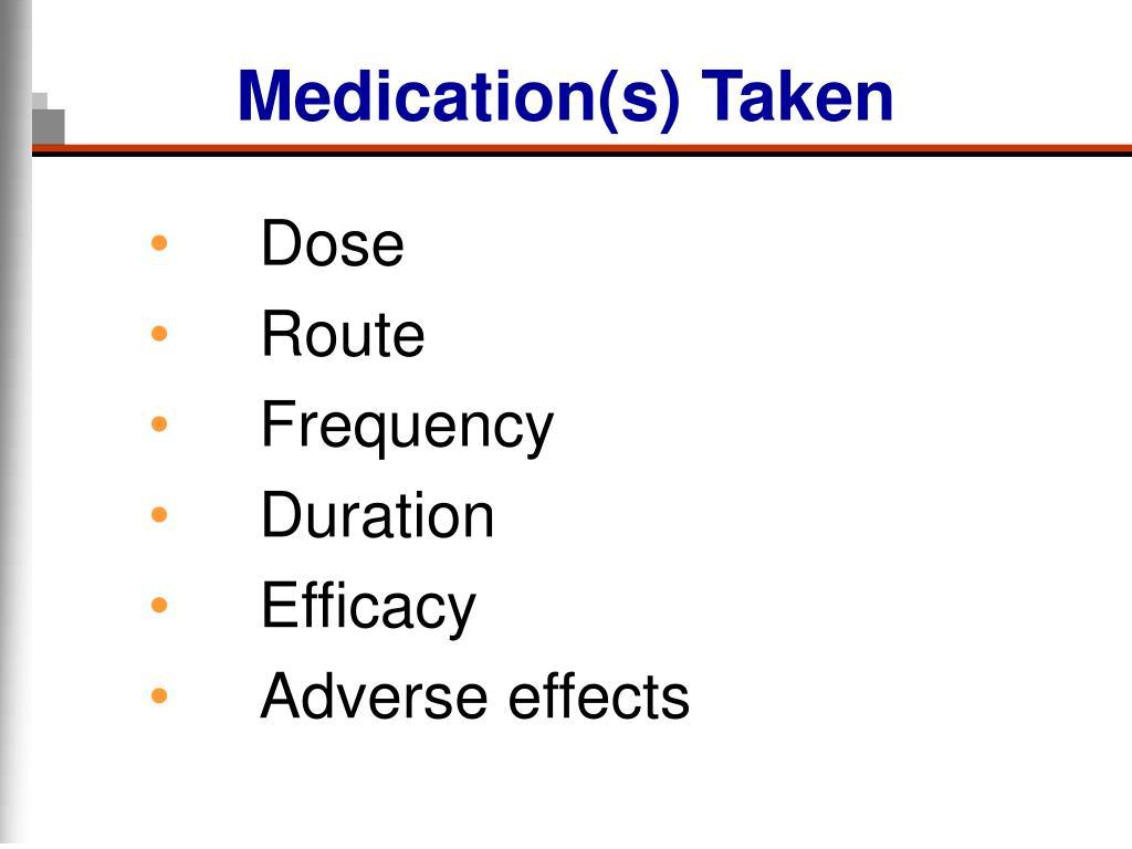 Medication(s) Taken