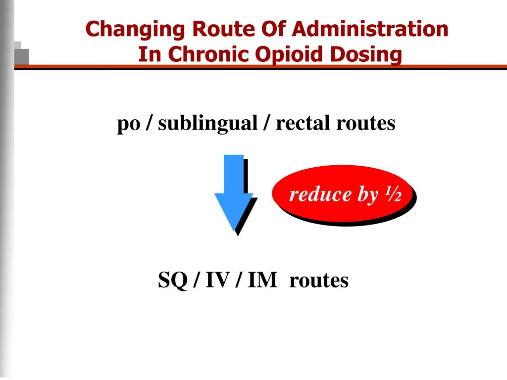 Changing Route Of Administration