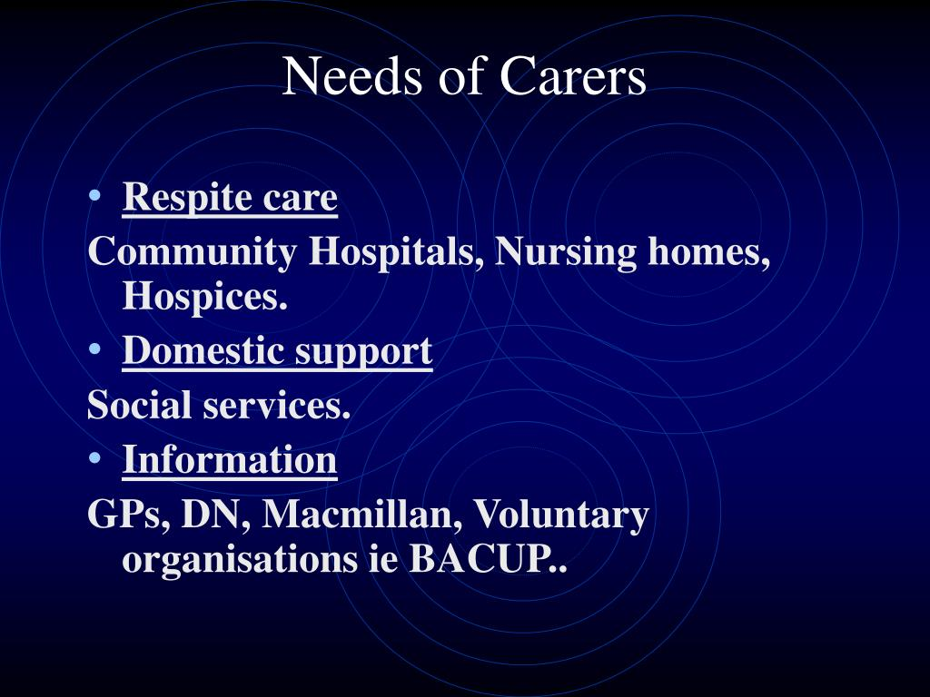 Needs of Carers