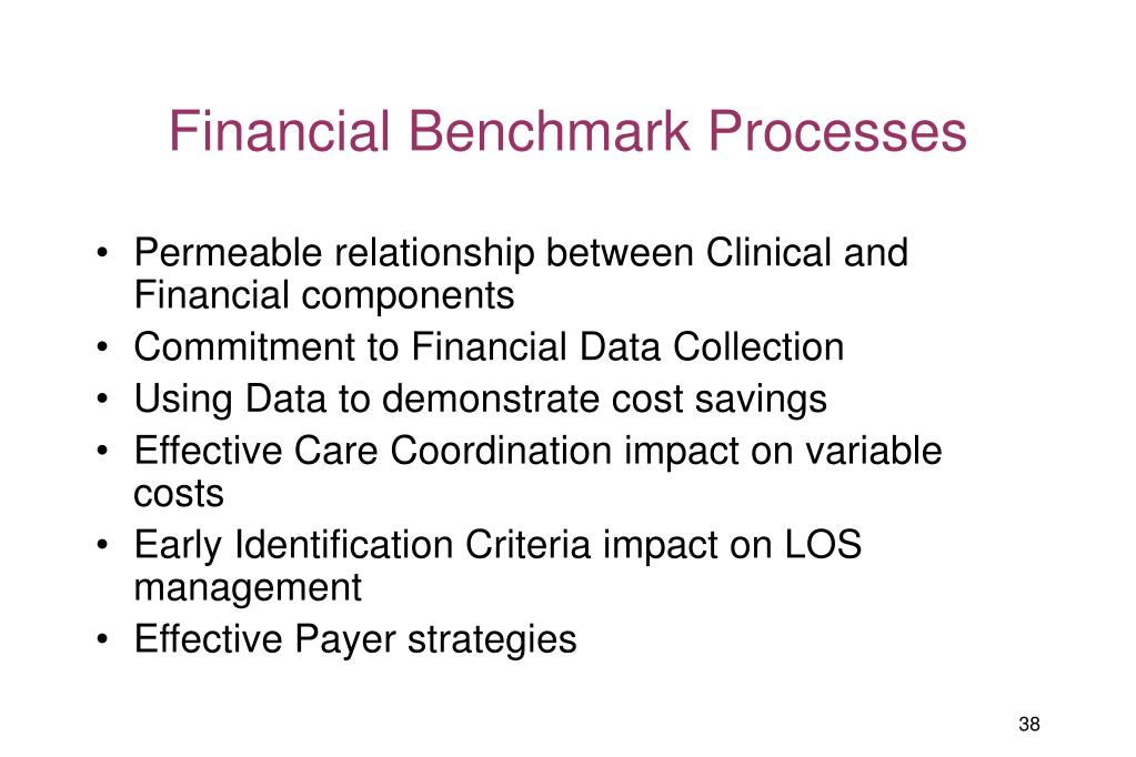 Financial Benchmark Processes