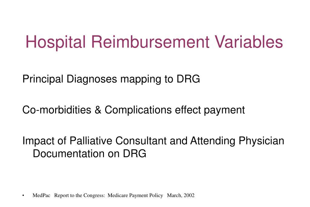 Hospital Reimbursement Variables