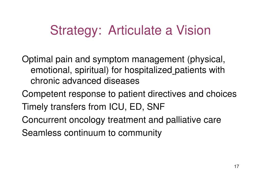 Strategy:  Articulate a Vision