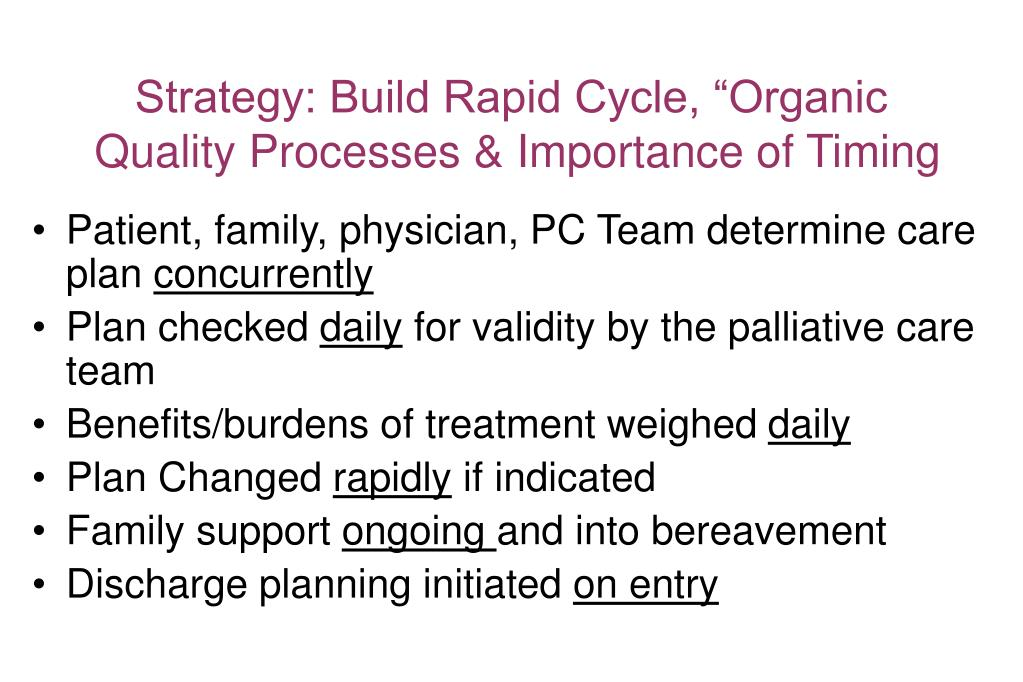 """Strategy: Build Rapid Cycle, """"Organic"""