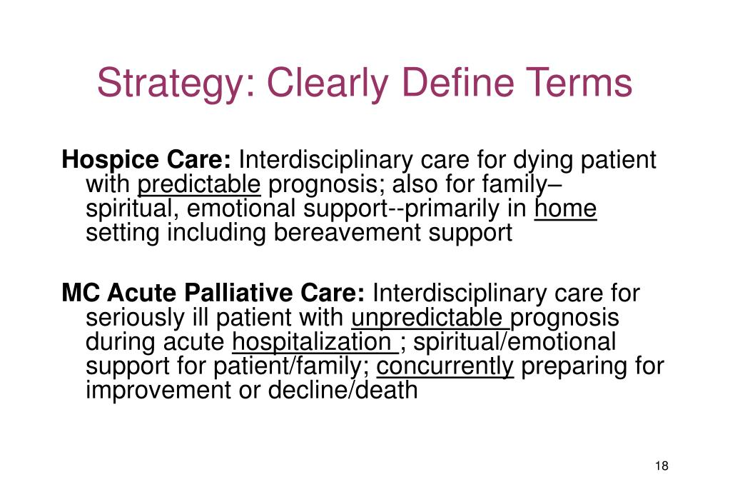 Strategy: Clearly Define Terms