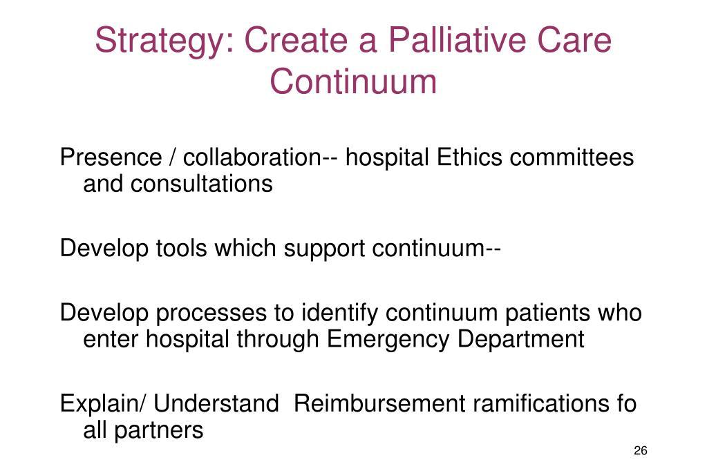 Strategy: Create a Palliative Care Continuum