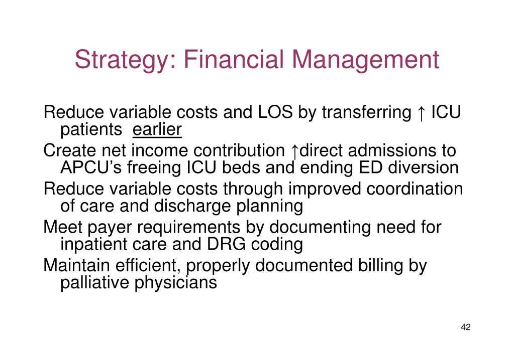 Strategy: Financial Management