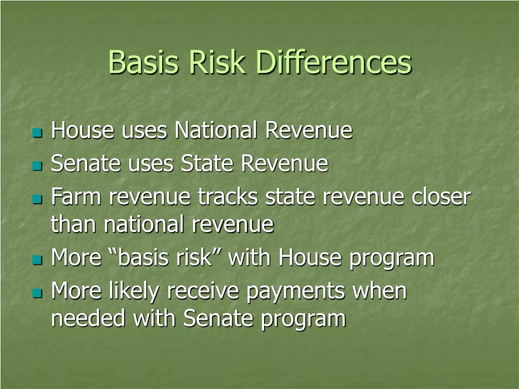 Basis Risk Differences