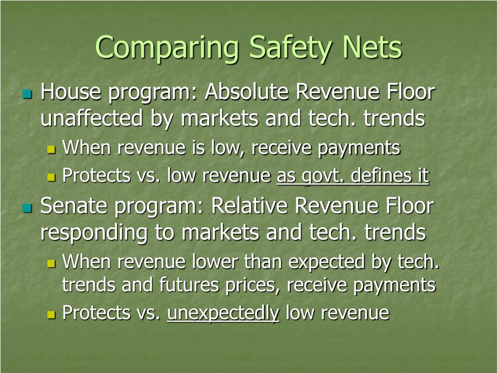 Comparing Safety Nets