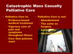 catastrophic mass casualty palliative care