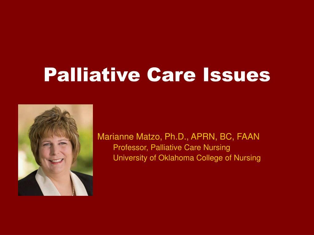 palliative care issues l.