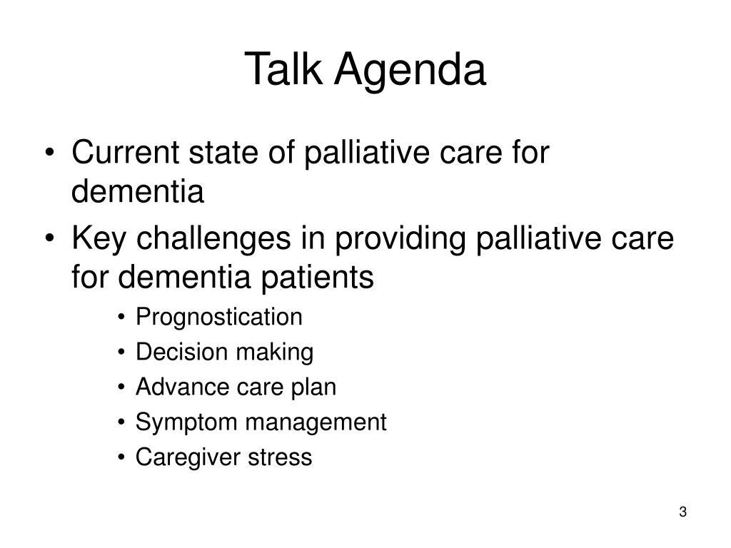 Talk Agenda