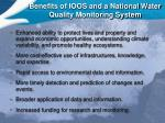 benefits of ioos and a national water quality monitoring system
