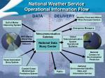 national weather service operational information flow