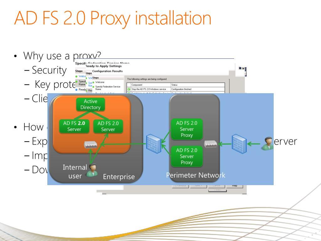 AD FS 2.0 Proxy installation