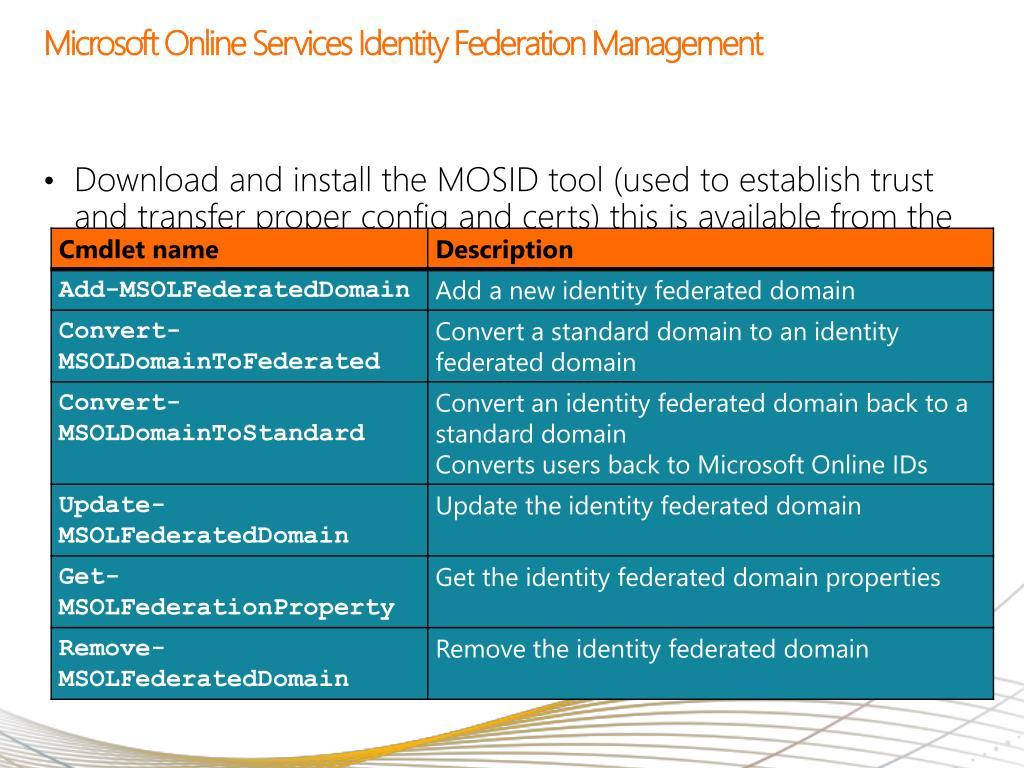 Microsoft Online Services Identity Federation