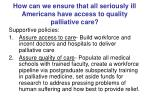 how can we ensure that all seriously ill americans have access to quality palliative care