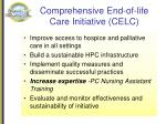 comprehensive end of life care initiative celc