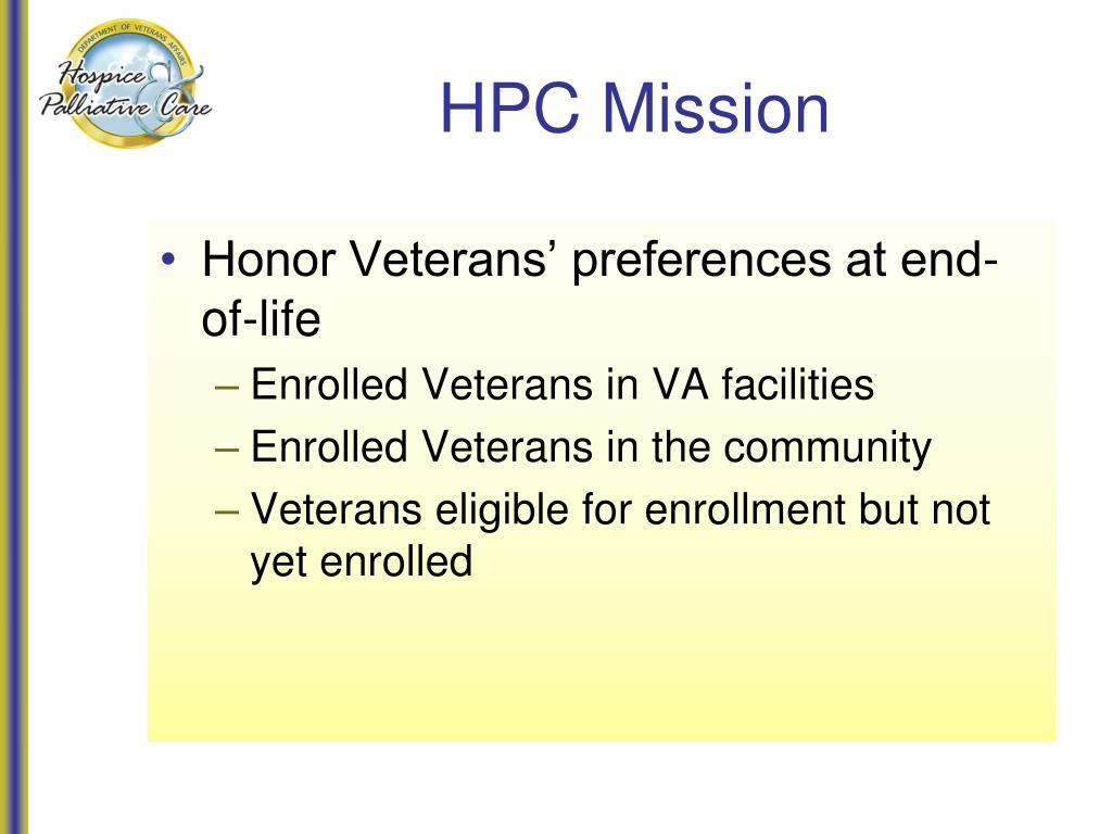 HPC Mission