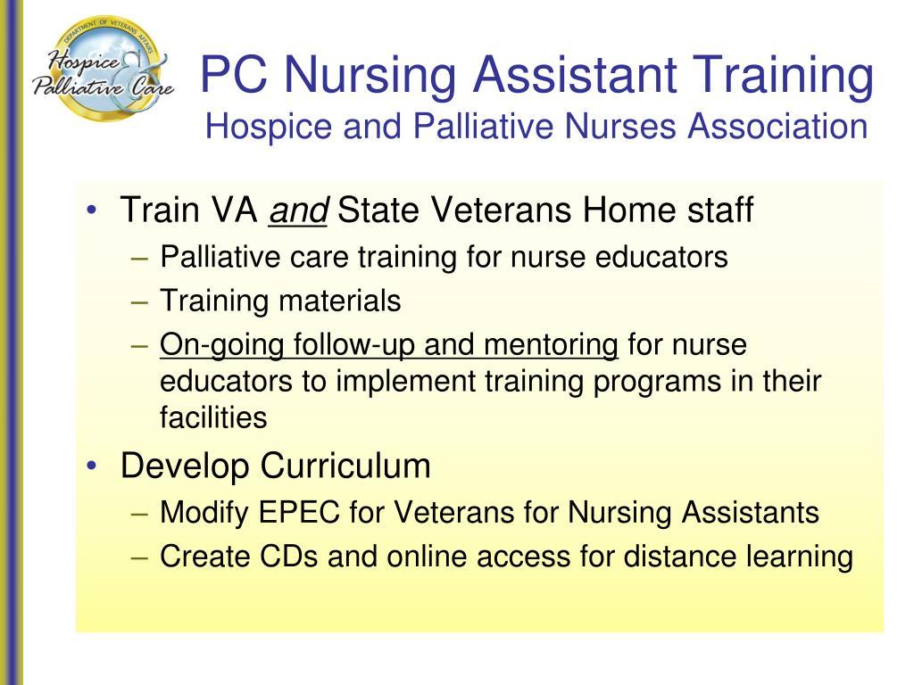 PC Nursing Assistant Training