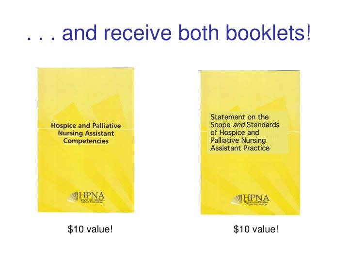 . . . and receive both booklets!
