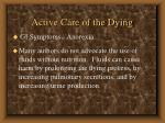 active care of the dying53