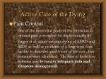 active care of the dying64