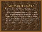 active care of the dying74