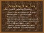 active care of the dying76