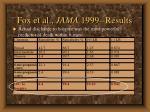 fox et al jama 1999 results26