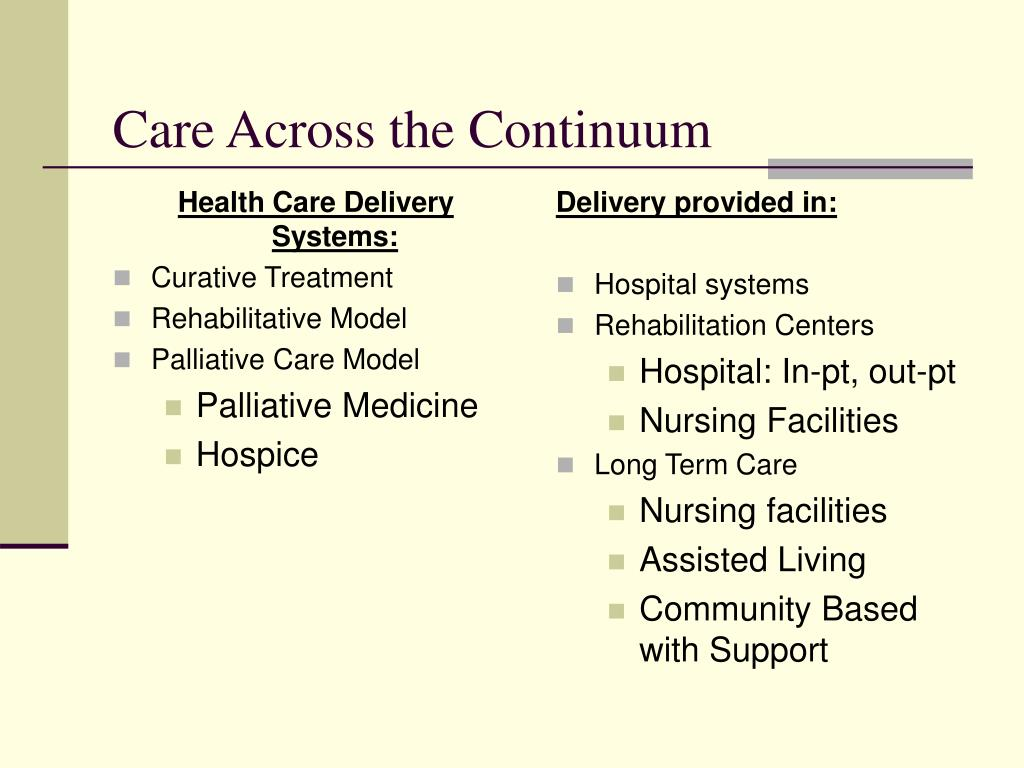 Health Care Delivery Systems: