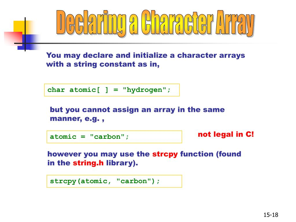 Declaring a Character Array