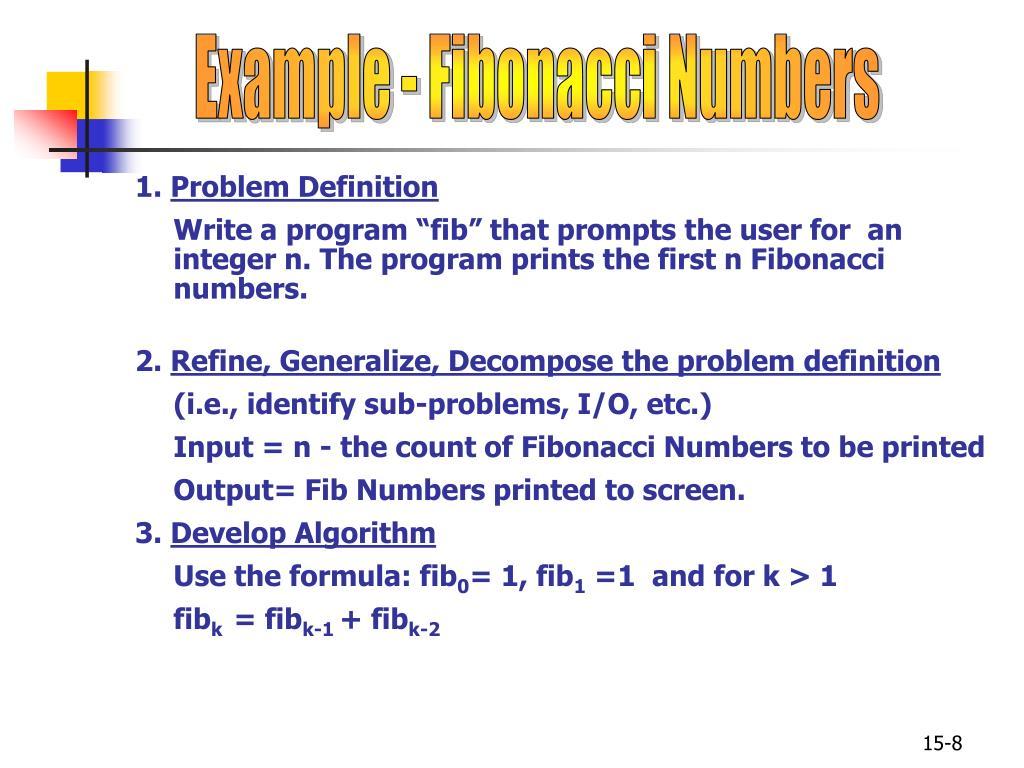 Example - Fibonacci Numbers