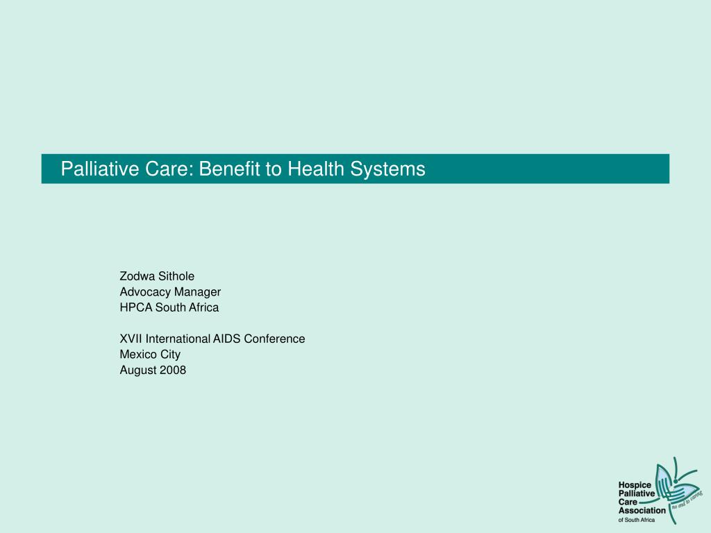 palliative care benefit to health systems
