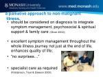 a palliative approach to non malignant illness