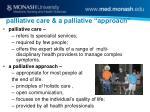 palliative care a palliative approach