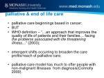 palliative end of life care