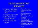 development of services