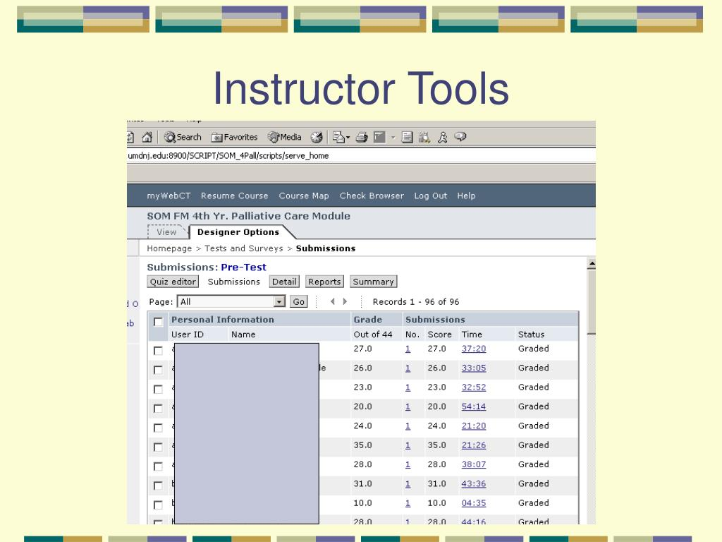 Instructor Tools