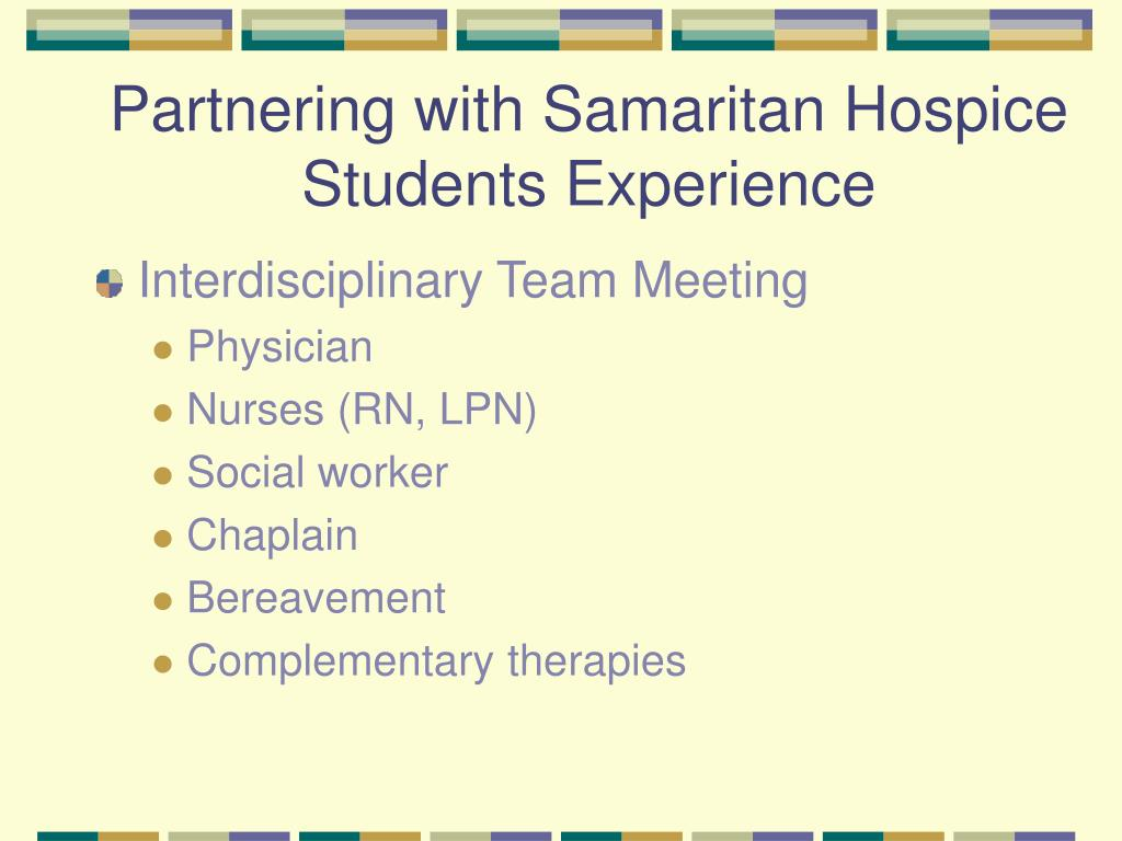 Partnering with Samaritan Hospice
