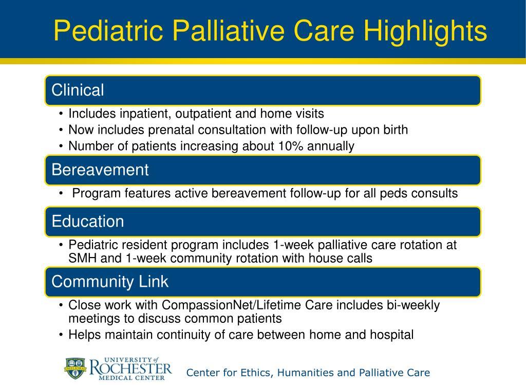 Pediatric Palliative Care Highlights