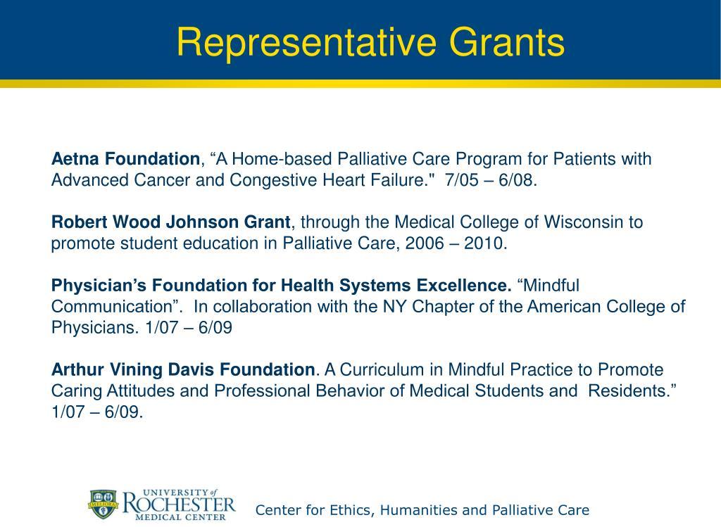 Representative Grants