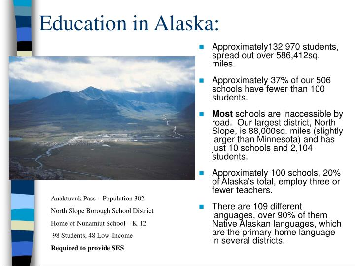 Education in alaska