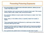 preventing poisoning exposures