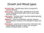 growth and wood types