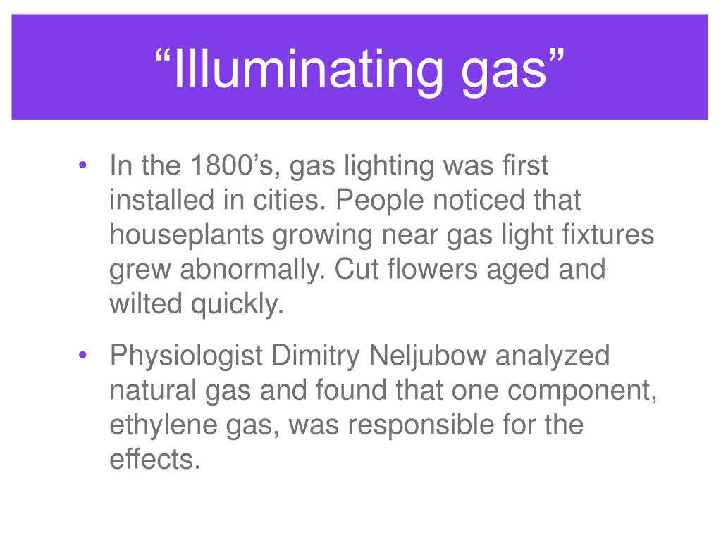 """Illuminating gas"""