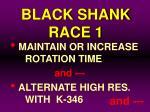 black shank race 180